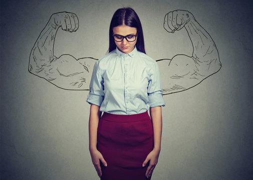 Introvert girl underestimating self power