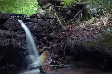 Stream running in cascades
