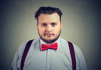 Eccentric handsome man in bow tie