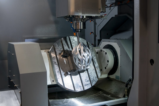 High speed 5 Axis machining center for metal processing