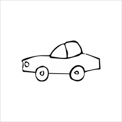 Car icon. Vector Art Illustration. White color