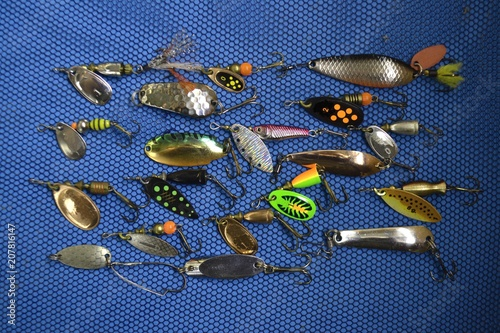 fishing bait spoon river fish nature aqua metal