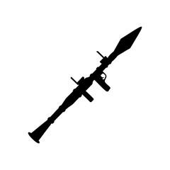 Rocket propelled grenade launcher icon.  Illustration