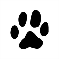 Cougar footprints icon. Vector Illustration