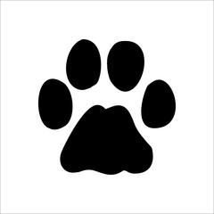 Bobcat footprints icon. Vector Illustration