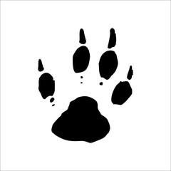 Woodchuck footprints icon. Vector Illustration