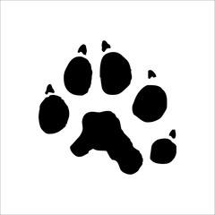 Fisher footprints icon. Vector Illustration