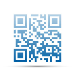 Qr code blue and shadow