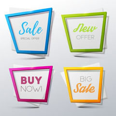 Vector sale banners set
