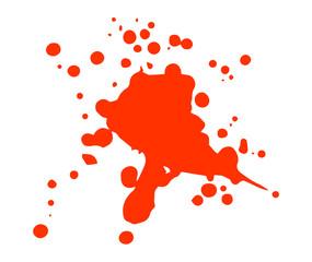 Roter Farbklecks