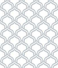 Vector seamless pattern. Modern stylish texture. Monochrome geometric background. A lattice with shaped cells.