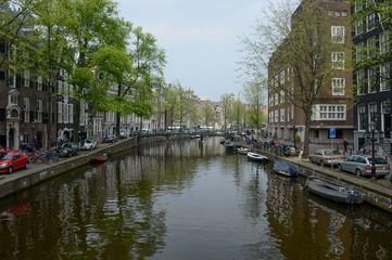 Vue d'Amsterdam aux Pays Bas