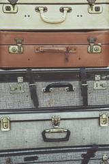lot de vieilles valises vintage en cuir