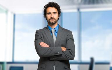 Serious manager portrait