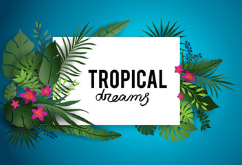 Tropical dream poster