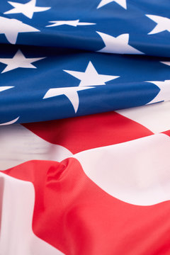 Beautiful USA flag background. United States flag wallpaper, vertical image.