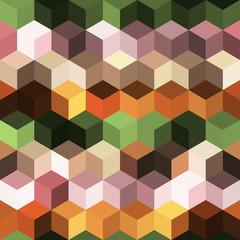 Hexagon grid seamless vector background. Stylized polygons six corners geometric design.