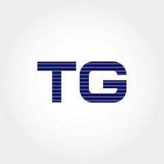 Initial Letter TG Logo Template Vector Design