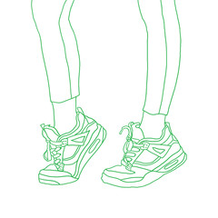 Sport sneakers. vector illustration.