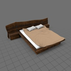 Rustic double bed