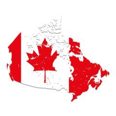 canadian flag emblem icon vector illustration design