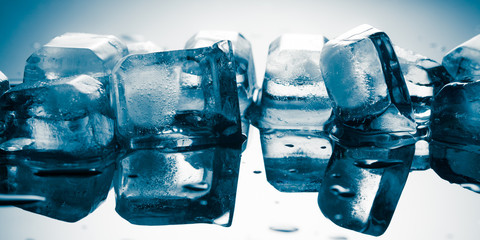 pile of different ice cubes