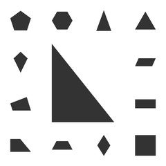 right triangle icon. Detailed set of geometric figure. Premium graphic design. One of the collection icons for websites, web design, mobile app