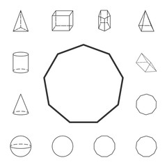 decagon... outline icon. Detailed set of geometric figure. Premium graphic design. One of the collection icons for websites, web design, mobile app