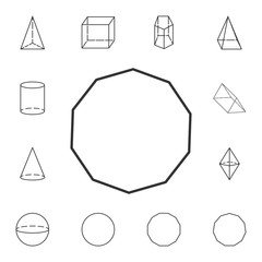 decagon outline icon. Detailed set of geometric figure. Premium graphic design. One of the collection icons for websites, web design, mobile app