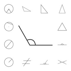 obtuse angle outline icon. Detailed set of geometric figure. Premium graphic design. One of the collection icons for websites, web design, mobile app