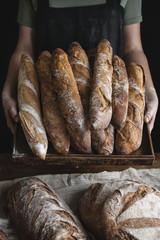 Fototapeten Brot Homemade sourdough bread food photography recipe idea