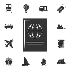 Passport icon. Detailed set of travel icons. Premium graphic design. One of the collection icons for websites, web design, mobile app