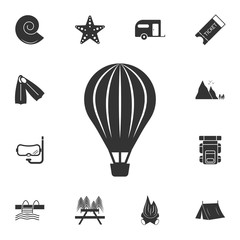 Aerostat icon. Detailed set of travel icons. Premium graphic design. One of the collection icons for websites, web design, mobile app