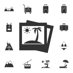 picture of palm trees icon. Detailed set of travel icons. Premium graphic design. One of the collection icons for websites, web design, mobile app