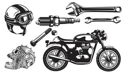Set Motorcycles logo emblem