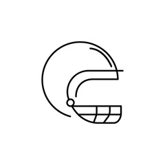 rugby helmet outline icon. Element of sports items icon for mobile concept and web apps. Thin line rugby helmet outline icon can be used for web and mobile