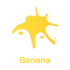 banana splash illustration. Element of colored splash for mobile concept and web apps. Detailed banana illustration can be used for web and mobile. Premium icon