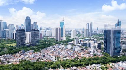 Beautiful Jakarta cityscape at sunny day