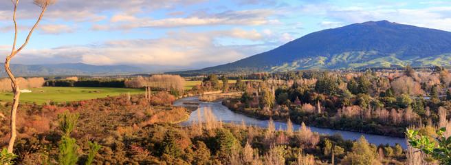 Picturesque landscape, Turangi, New Zealand