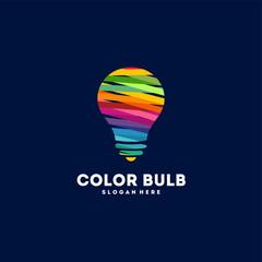Abstract Colorful Tech Bulb Logo designs concept vector, Colorful Idea logo template designs,