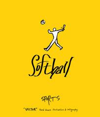 스포츠 포스터 / 손으로 그린 스포츠 그림