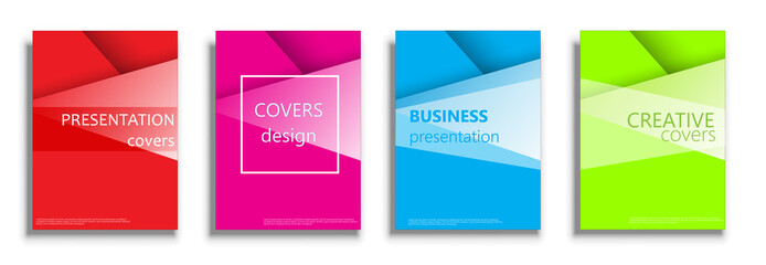 Vector covers design collection, covers design set