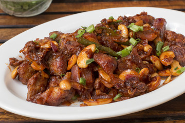 Spicy cashew chicken is a delicious and easy chicken recipe with right amount of spiciness.