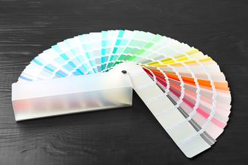 Color palette samples on black background