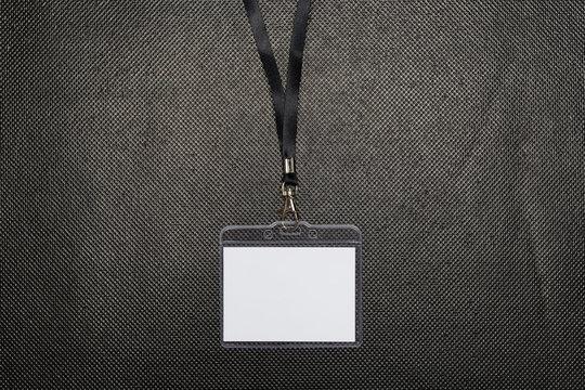 Blank badge mockup isolated on black