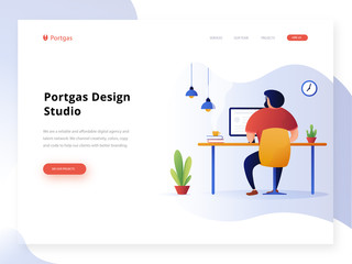 Set of creative website template design vector illustration