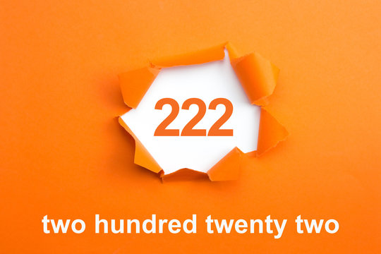 Number 222 - Number written text two hundred twenty two