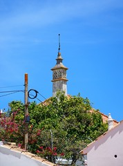 Decorative chimney on a traditional Portuguese building in the old town, Silves, Portugal.
