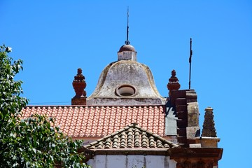 Side view of the Gothic cathedral (Igreja da Misericordia), Silves, Portugal.