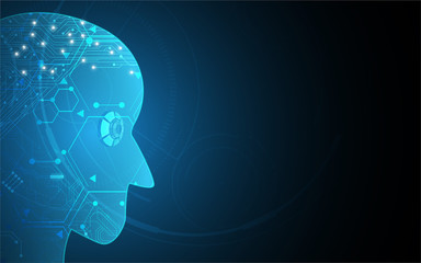 digital tech Artificial Intelligence innovate concept background